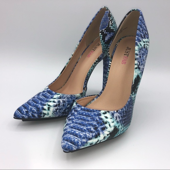 Just Fab Shoes - NEW JUST FAB HIGH HEEL PUMPS BLUE TEAL 8.5 woman